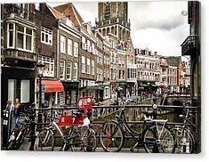 The Vismarkt In Utrecht Acrylic Print by RicardMN Photography