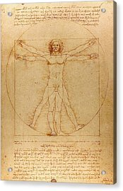 The Vitruvian Man Acrylic Print by