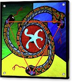 The Vitruvian Serpent Acrylic Print