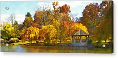 The Vt Duck Pond Acrylic Print by Kathy Jennings