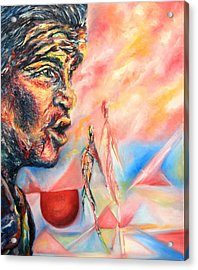 The W Acrylic Print by Joseph Lawrence Vasile
