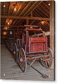 The Wagon Barn Acrylic Print by Ron  McGinnis
