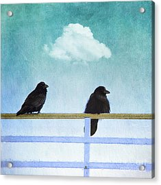 The Wait Acrylic Print by Priska Wettstein