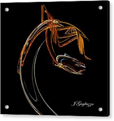 The Waiter Acrylic Print by Jean Gugliuzza