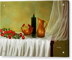 Acrylic Print featuring the painting The Waiting Table by Sena Wilson