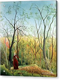 The Walk In The Forest Acrylic Print by Henri Rousseau