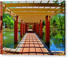 The Walkway Acrylic Print by Judy  Waller