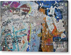The Wall #10 Acrylic Print
