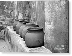The Wall Of Pots Acrylic Print by Sandra Bronstein