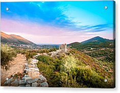 The Walls Of Ancient Messene - Greece. Acrylic Print
