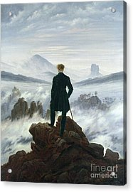 The Wanderer Above The Sea Of Fog Acrylic Print by Caspar David Friedrich