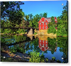 The War Eagle Arkansas Mill And Bridge IIi - Northwest Arkansas Acrylic Print