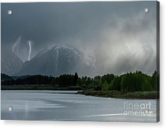 Acrylic Print featuring the photograph The Warning by Sandra Bronstein