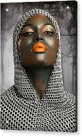 The Warrior Acrylic Print by Baden Bowen