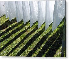 The Washing Is On The Line - Shadow Play Acrylic Print