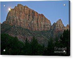 Acrylic Print featuring the photograph The Watchman And The Moon by Suzette Kallen