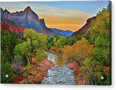 The Watchman And The Virgin River Acrylic Print