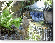 Acrylic Print featuring the photograph The Water And Rock Spot by Raphael Lopez
