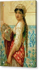 The Water Carrier Acrylic Print by Augustus Jules Bouvier