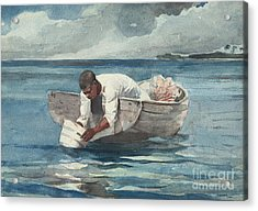 The Water Fan Acrylic Print by Winslow Homer