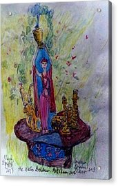 The Water Goddess Acrylic Print by Barb Greene mann