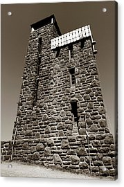Acrylic Print featuring the photograph The Water Tower At Mount Constitution by Lorraine Devon Wilke