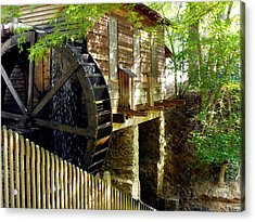 The Water Wheel Acrylic Print by Eva Thomas