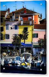 The Watercolors In Split Acrylic Print