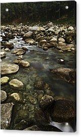 The Waters Flow Acrylic Print by Rajiv Chopra