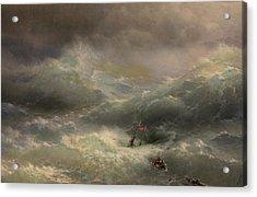 The Wave Acrylic Print by Ivan Aivazovsky