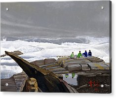 The Wave Watchers Acrylic Print