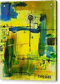 Acrylic Print featuring the mixed media The Way Of It              by Teddy Campagna
