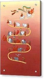 The Way Of The White Elephant The Way To Meditation Acrylic Print
