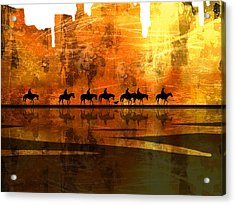The Weary Journey Acrylic Print by Paul Sachtleben
