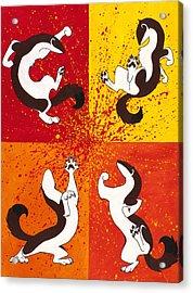 The Weasel Dance Acrylic Print