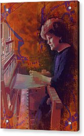 Acrylic Print featuring the photograph The Weaver by Kate Word
