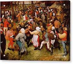 The Wedding Dance Acrylic Print by Pieter the Elder Bruegel