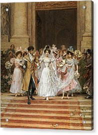 The Wedding Acrylic Print by Frederik Hendrik Kaemmerer