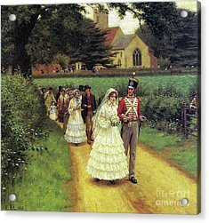 The Wedding March Acrylic Print by Edmund Blair Leighton