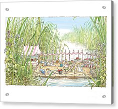 The Wedding Party Acrylic Print by Brambly Hedge