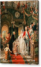 The Wedding Party Acrylic Print by Carl Herpfer