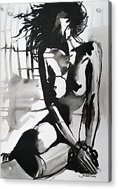 Acrylic Print featuring the painting The Weight by Jarko Aka Lui Grande