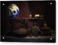The Weight Of The World Acrylic Print by Tom Mc Nemar
