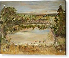 The Westfern Pond Acrylic Print by Edward Wolverton