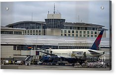 The Westin Detroit Metropolitan Airport Acrylic Print by David Oppenheimer