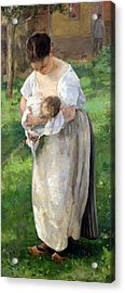 The Wet Nurse Acrylic Print by Alfred Roll