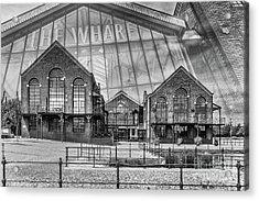 The Wharf Cardiff Bay Mono Acrylic Print