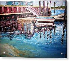 The Wharf Acrylic Print