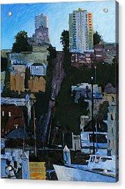 The Wharf Acrylic Print by Robert Bissett