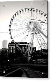 The Wheel Black And White Acrylic Print